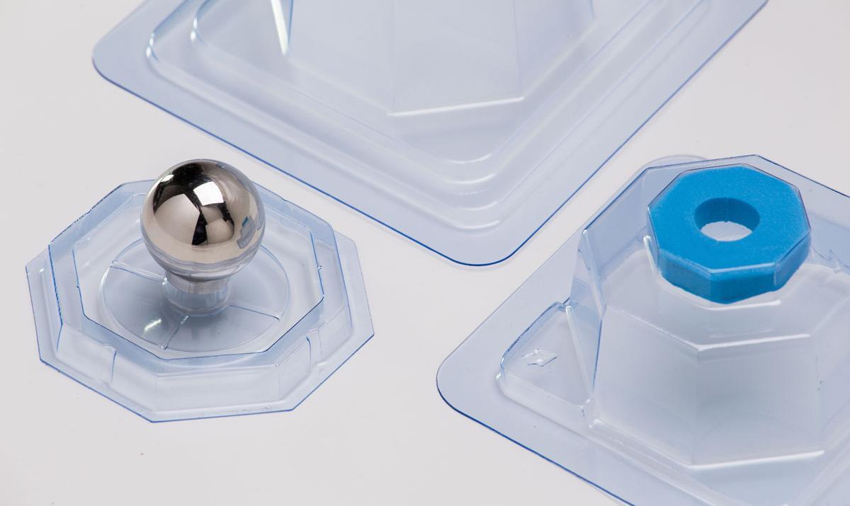 Embalagem desmontada para Prótese de Joelho - Componente Femoral