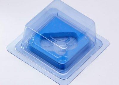 Embalagem de plástico duro transparente
