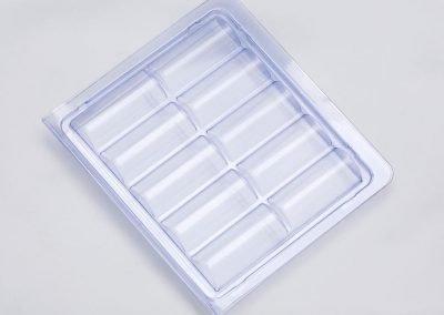 Embalagem montada para frascos de vacina